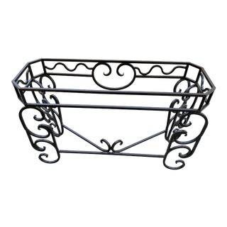 Vintage Custom Steel Console Table Base, Spanish Colonial Style For Sale