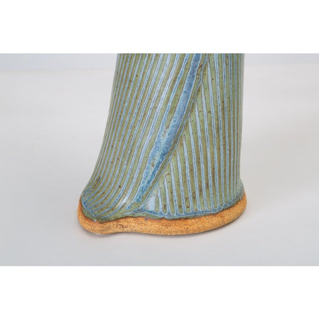 Incised Vase With Button Detail For Sale - Image 9 of 11