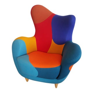 Abstract Javier Mariscal for Moroso Alessandra Wingback Chair