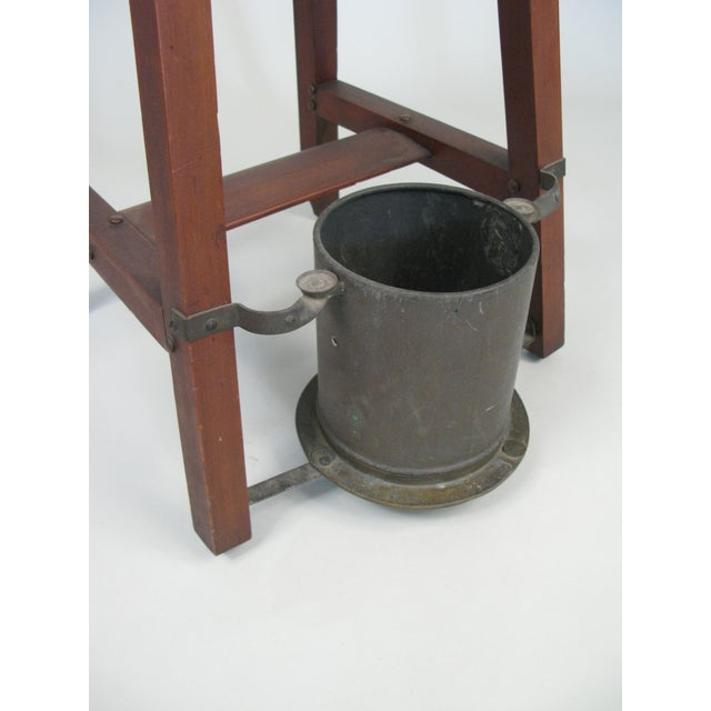 1940s Vintage Rustic 1940s Hall Table Umbrella Stand For Sale - Image 5 of 7