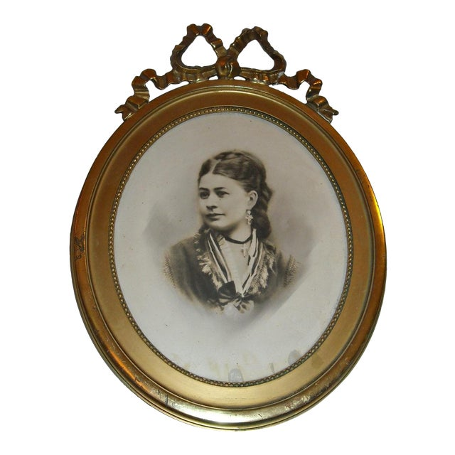 Antique Picture in Gilt Oval Frame - Image 1 of 5