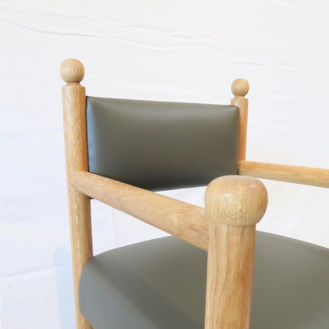Not Yet Made - Made To Order Rustic Modern Style Dining Chair With Turned Finals by Martin and Brockett For Sale - Image 5 of 7