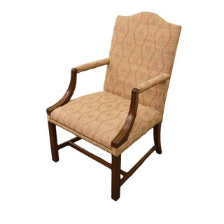 20th Century Traditional Hickory Chair Co. Mahogany Accent Arm Chair For Sale
