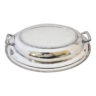 Poole Silverplate Oval Covered Serving Dish
