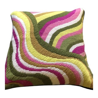 Jonathan Adler Needlepoint Pillow For Sale