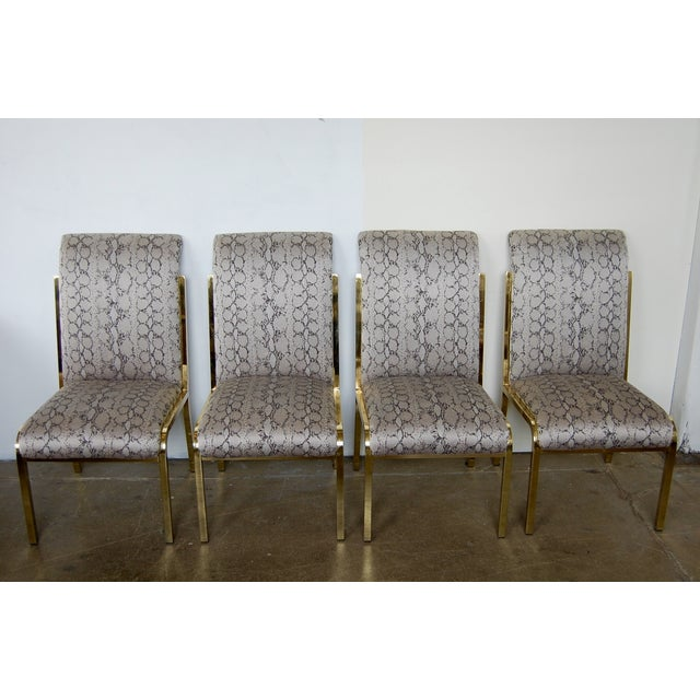 Python & Brass Vintage Dining Chairs - Set of 4 - Image 2 of 11