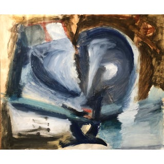 Mid-Century Modern Abstract Richard Goodwin Painting For Sale