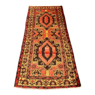 1940s Vintage Persian Mehabad Rug - 3′2″ × 6′10″ For Sale