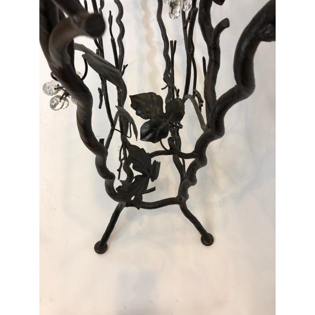 Metal 1980s Traditional Hand Forged Iron Console Table and Wine Rack For Sale - Image 7 of 11