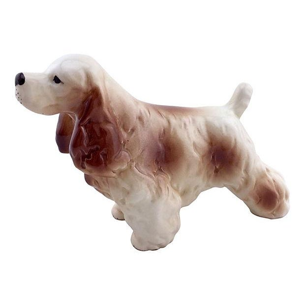 Porcelain Cocker Spaniel Figurine - Image 1 of 4