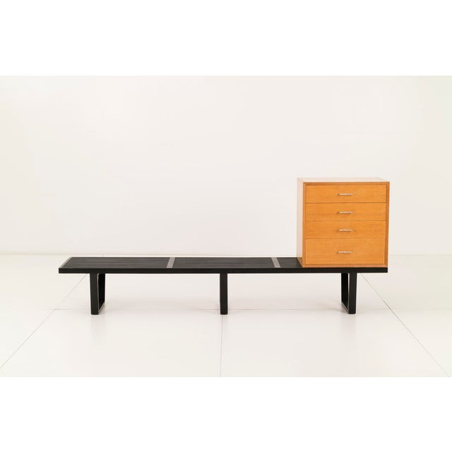 Herman Miller George Nelson Ebony Bench For Sale - Image 4 of 6