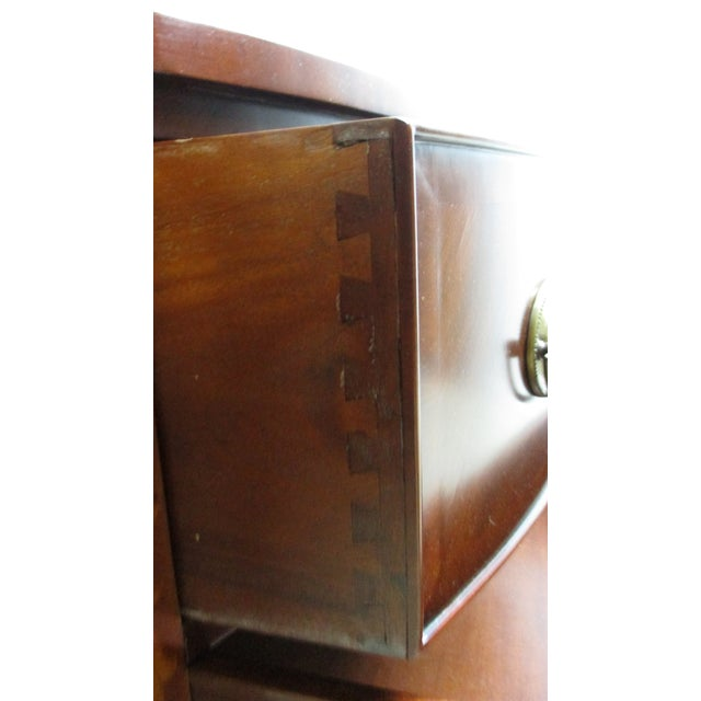 1990s Mahogany Federal Banded Sideboard For Sale - Image 9 of 13