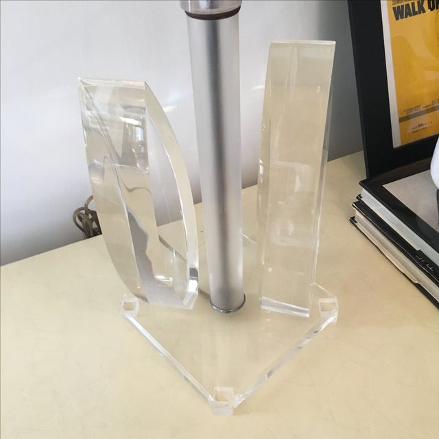 Vintage Mid-Century Sculptural Acrylic Table Lamp Attributed to Van Teal - Image 6 of 8