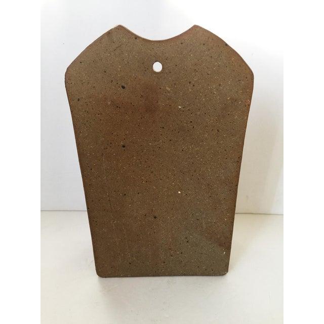 Mid Century Modern Artisan Ceramic Wall Pocket For Sale - Image 4 of 7