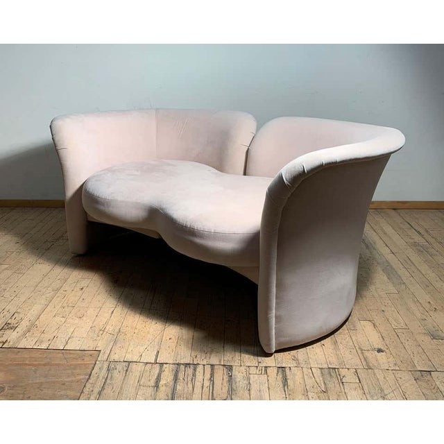 Tete-a-Tete Love Seat Sofa by Milo Baughman / manner of Vladimir Kagan For Sale - Image 9 of 13