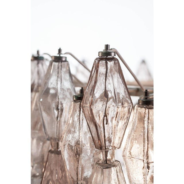 Pair of Carlo Scarpa Extra Large 245 Murano Glass Pieces 'Poliedri' Chandeliers For Sale - Image 9 of 10