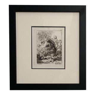 Late 18th Century Rembrandt Etching #17, by Francesco Novelli For Sale