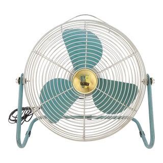1950s Vintage Emerson Electric Aqua Blue Floor Fan For Sale
