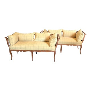French Country 19th Century Louis XV Settees Loveseats - a Pair For Sale