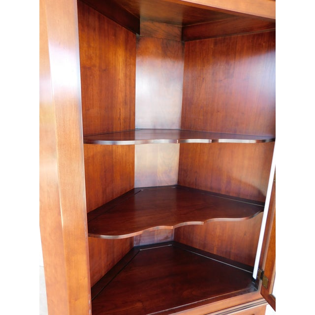 Brown Statton Old Towne Chippendale Style Cherry Corner Cabinet For Sale - Image 8 of 13