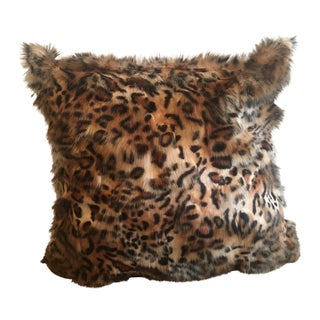 Tigress Faux Fur Pillow Cover For Sale