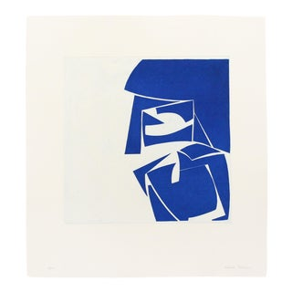 "Joanne Freeman ""Covers 3 Cobalt"", Print For Sale"