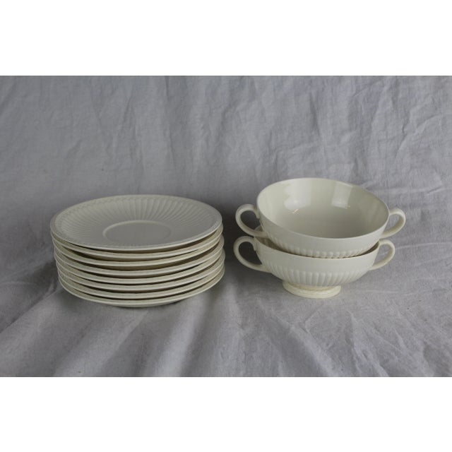 Wedgwood Windsor Soup Bowls and Plates - Set of 10 For Sale In New York - Image 6 of 7