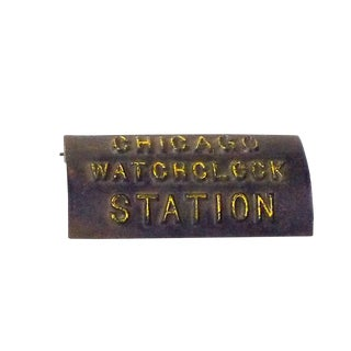 Cast Iron Chicago Watchclock Station For Sale