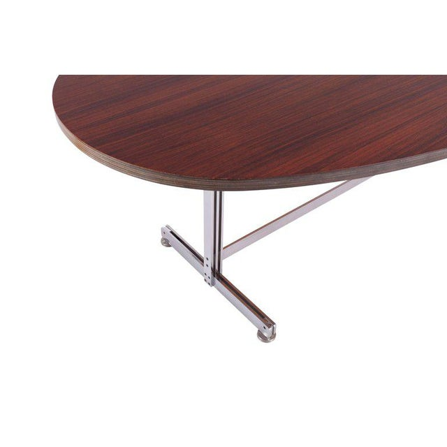 Metal Jules Wabbes Oval Dining Table for Mobilier Universel For Sale - Image 7 of 9