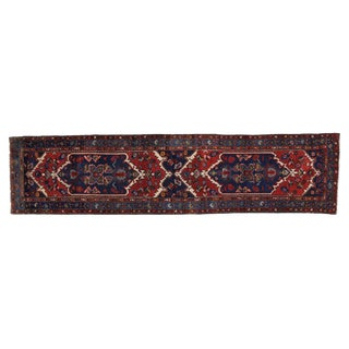Early 20th Century Antique Persian Hamadan Runner - 3′6″ × 14′6″ For Sale
