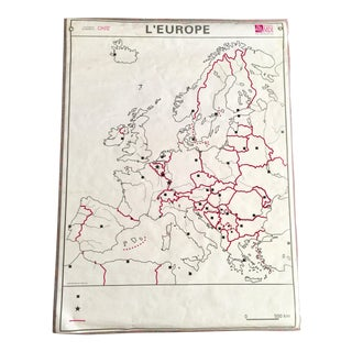 Europe & France French School Map