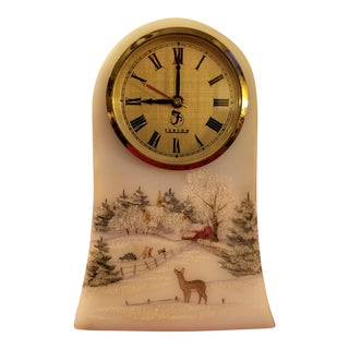 1992 Fenton Hand Painted Clock