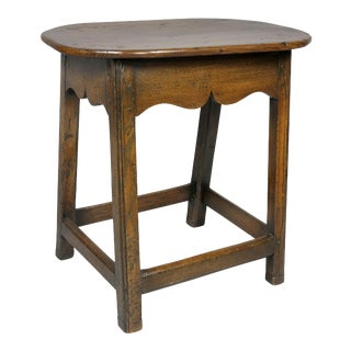 Late 18th Century George III Oak Stool For Sale
