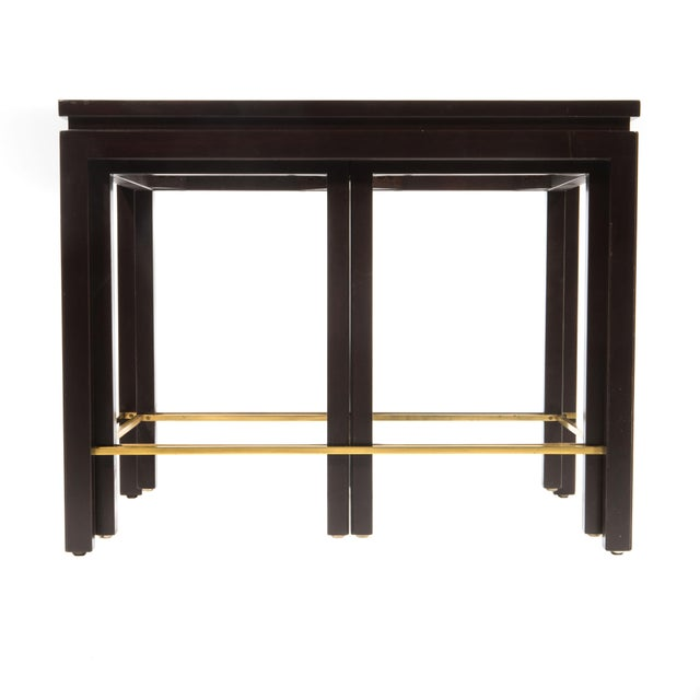 SET OF THREE NESTING TABLES BY EDWARD WORMLEY FOR DUNBAR, CIRCA 1950S - Image 8 of 11