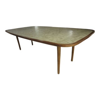 Mid-Century Modern Ceramic Tile-Top Dining Table For Sale