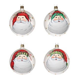 Old St. Nick Ornaments - Set of 4 For Sale