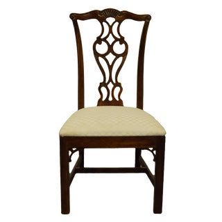 Thomasville Furniture Mahogany Collection Traditional Chippendale Style Dining Side Chair For Sale
