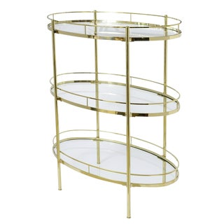 Brass Three Tier Etagere by Maxwell Phillips & Co. New York For Sale