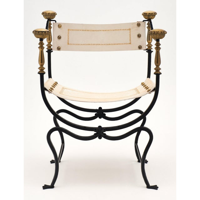 Italian Italian Renaissance Style Set of Eight Armchairs For Sale - Image 3 of 11