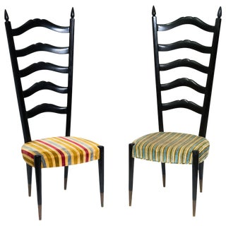 Chiavari High Back Chairs - a Pair For Sale