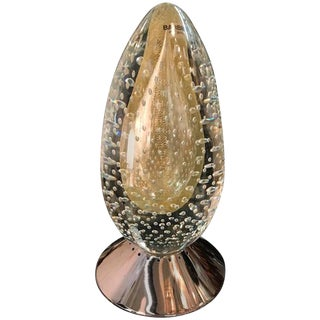 Barbini Murano Egg Sculpture Table Lamp For Sale