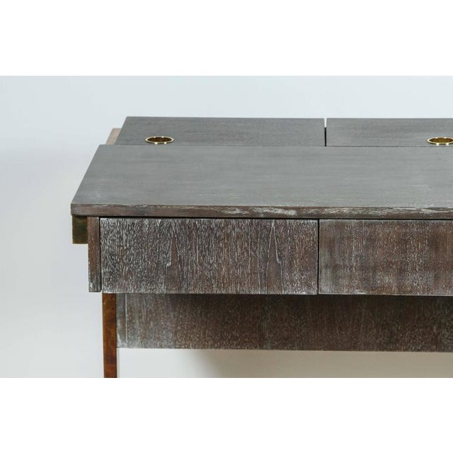 Contemporary Customizable Paul Marra Writing File Desk in Ceruse Walnut Finish For Sale - Image 3 of 10
