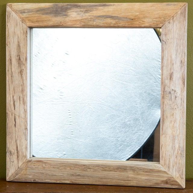 Rustic Wood Frame Mirror | Chairish