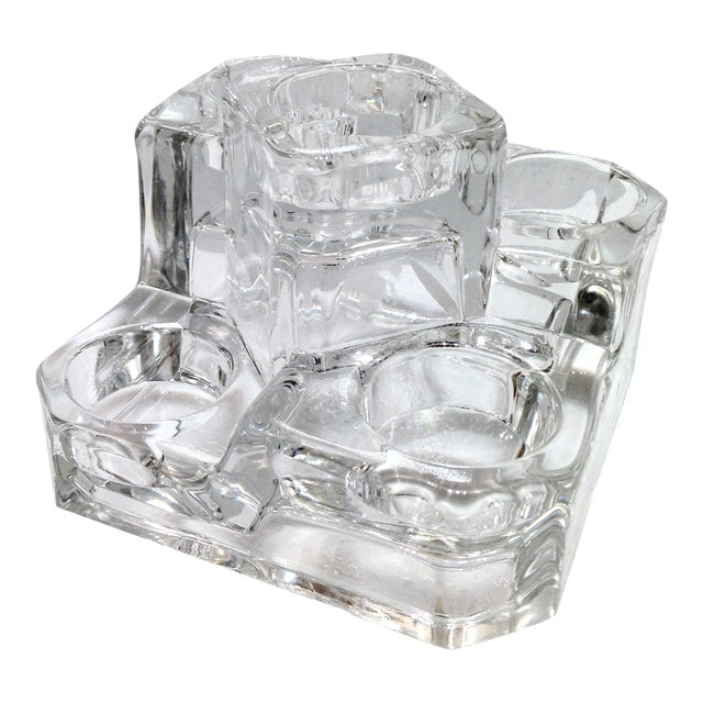 Clear Glass Tea Light Candle Holder - Image 1 of 4