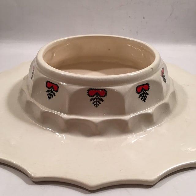 Retro Christmas Ceramic Cake or Cookie Stand - Image 6 of 8