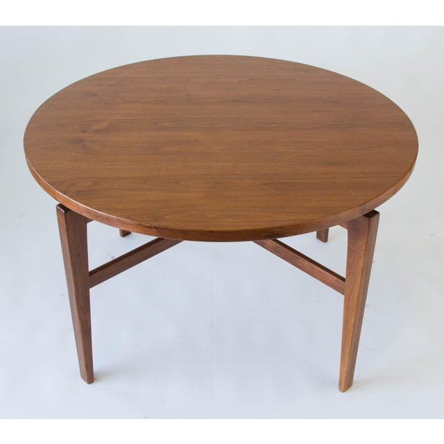 Jens Risom Lazy Susan Game Table For Sale - Image 5 of 6