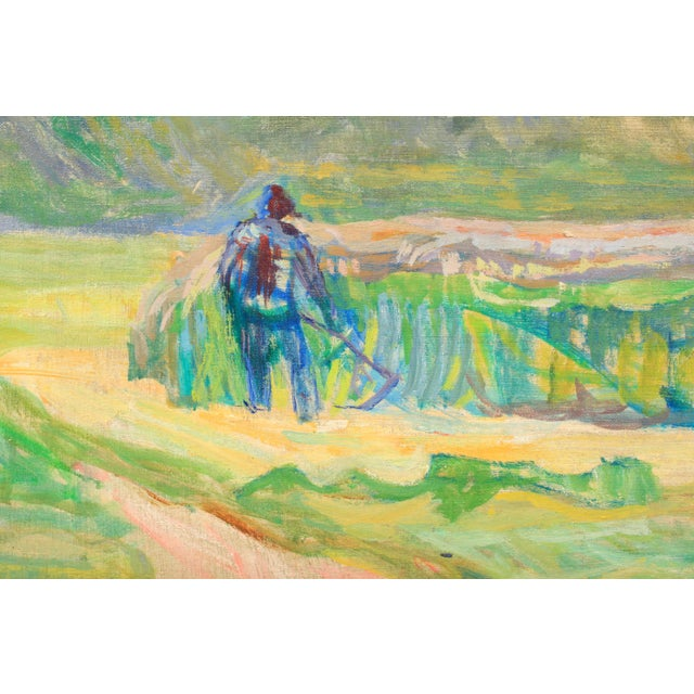 Expressionism 20th C. Expressionist Harvest Scene by Vedel Egebaek For Sale - Image 3 of 7