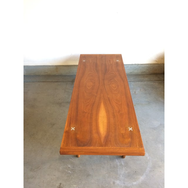 Mid-Century Modern Walnut Coffee Table by American Of Martinsville - Image 3 of 5