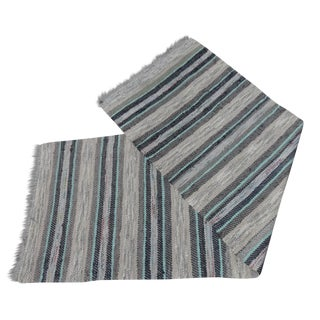 Swedish Hand Woven Rag Rug - 2′5″ × 7′5″ For Sale