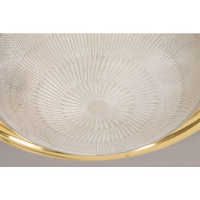 1960s Sergio Mazza Brass & Glass Wall or Ceiling Lights for Artemide - A Pair For Sale - Image 10 of 13